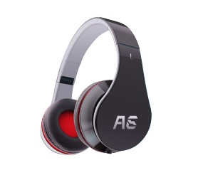 a6 foldable light weight over ear headphone with mic