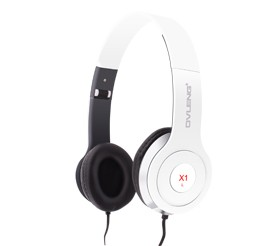 x1 foldable light weight over ear headphone with mic